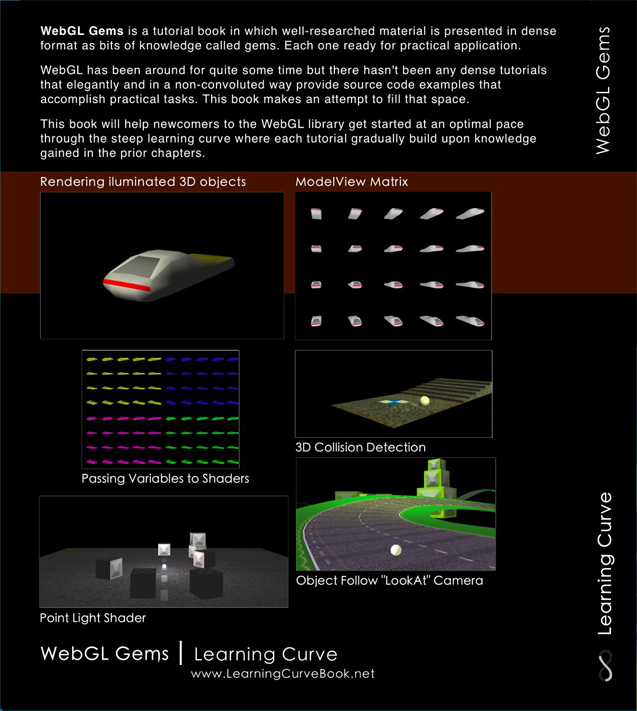 WebGL Gems - PDF 3D Programming Tutorial Book (back cover)